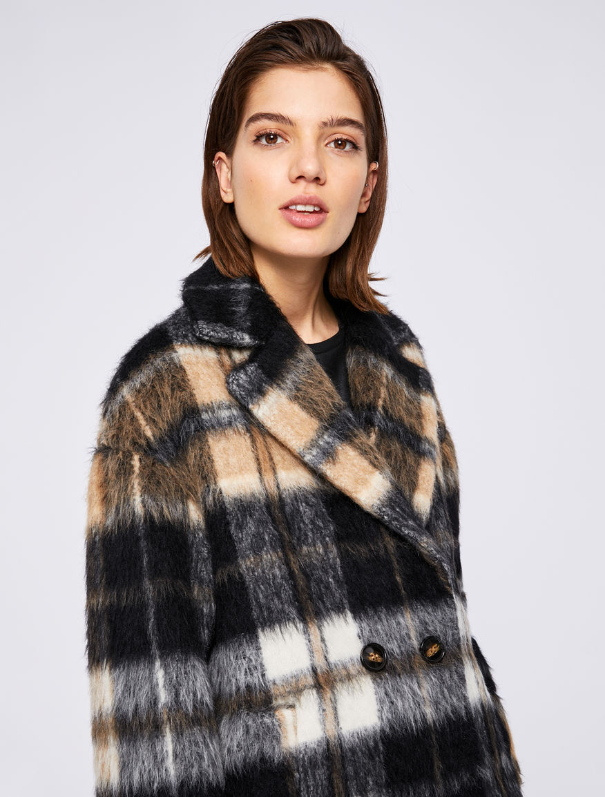 Checked coat Marella