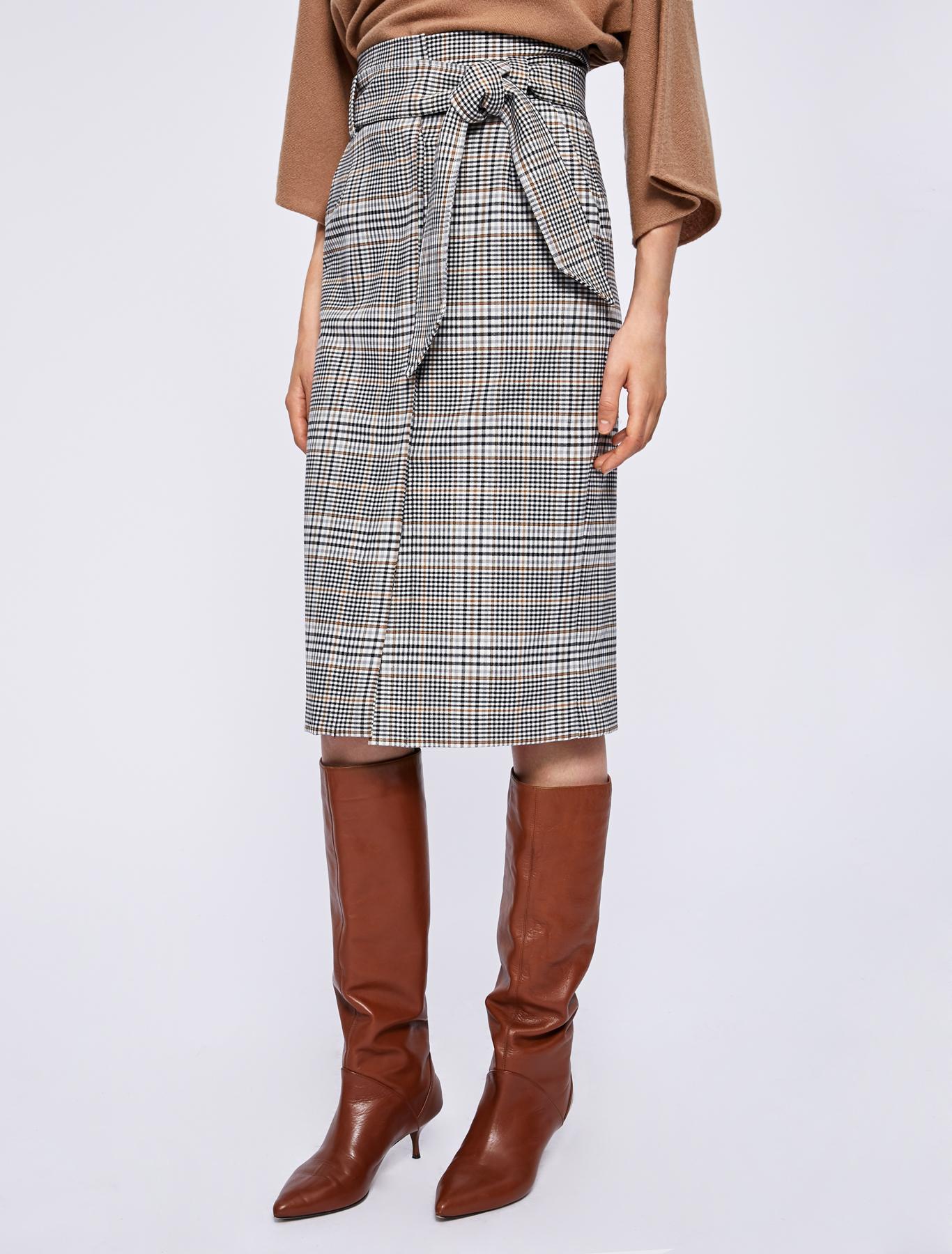 prezzo più basso 57de1 5484e Prince of Wales checked skirt, ecru - Marella
