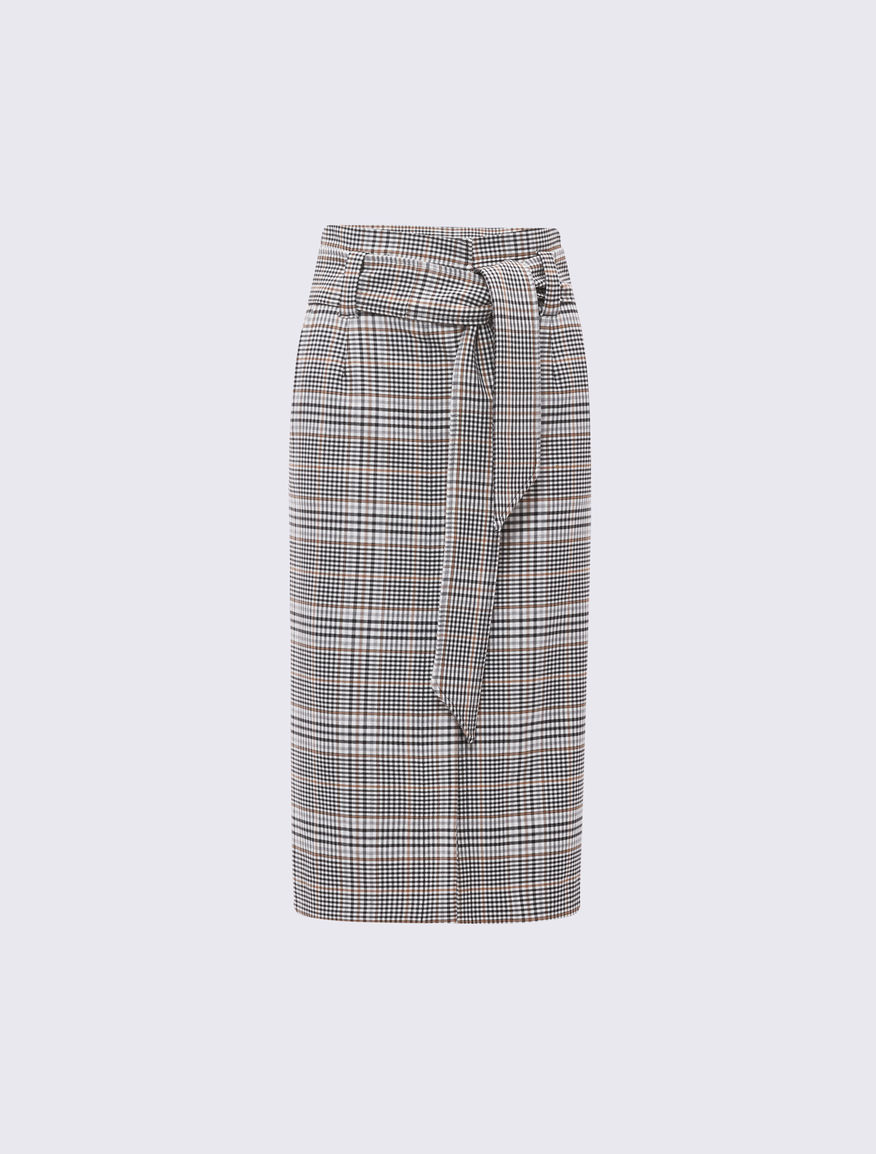 Prince of Wales checked skirt Marella