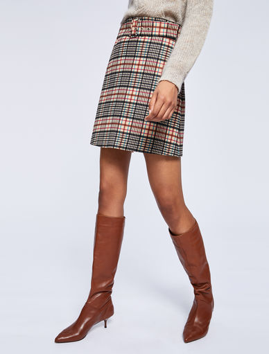 Checked mini skirt Marella