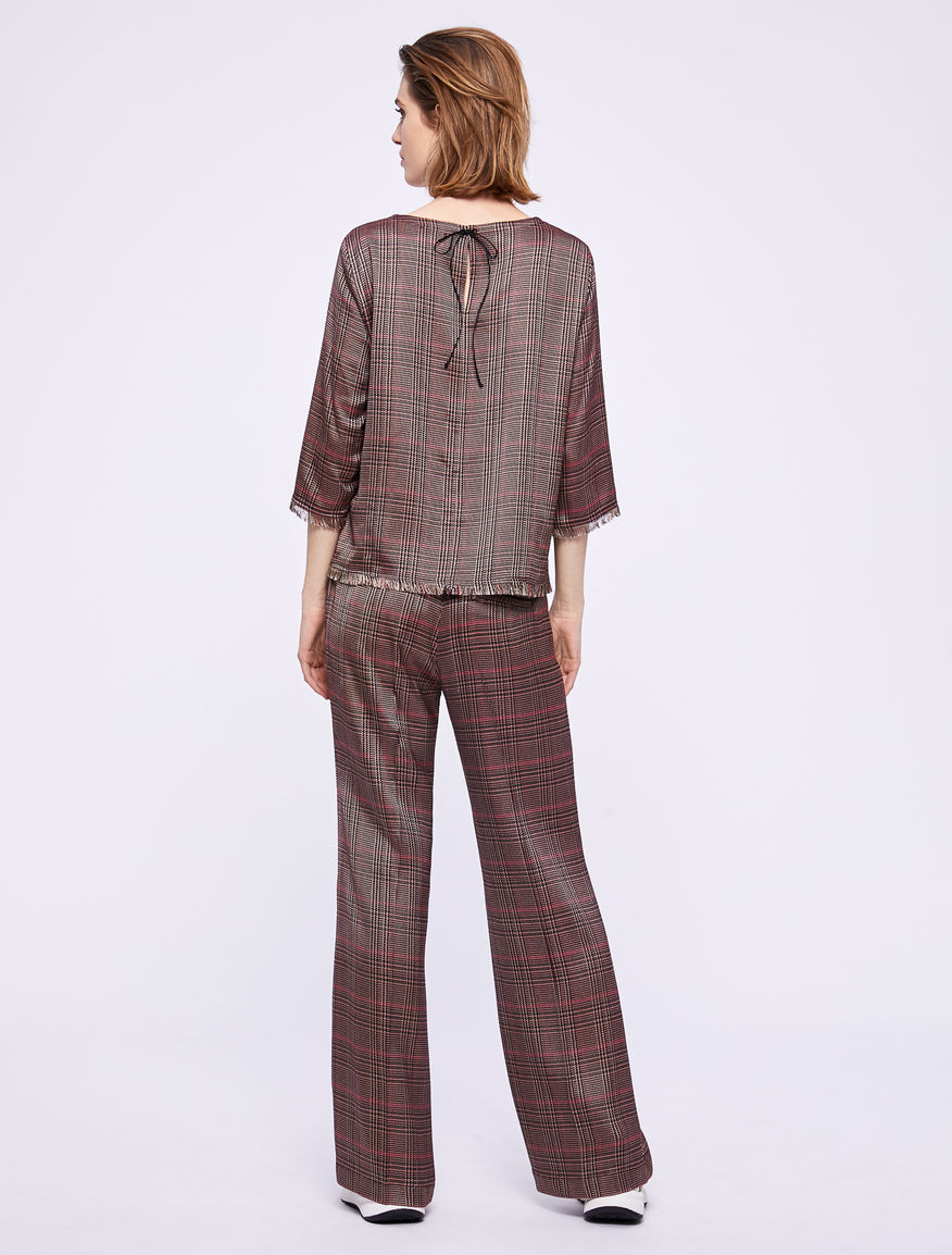 Prince of Wales checked blouse Marella