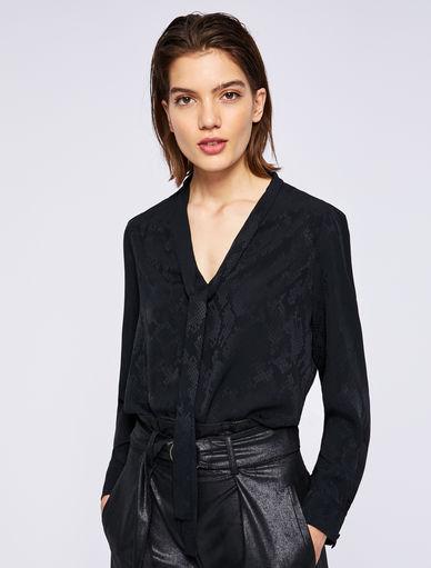 Blusa con estampado de pitón Marella
