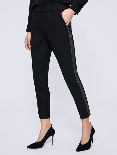 Trousers with lurex band Marella