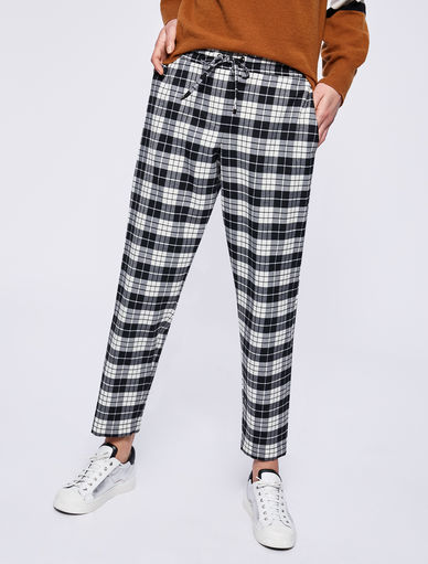 Checked trousers Marella