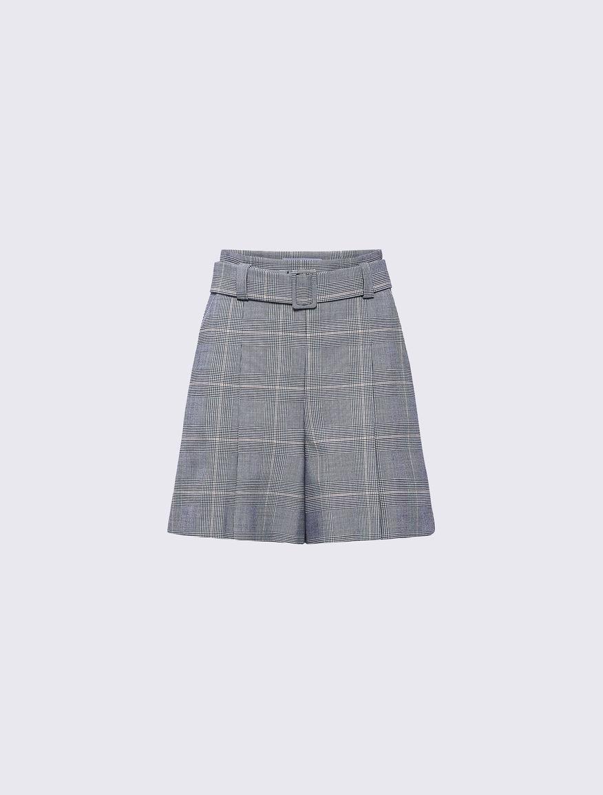 Prince of Wales checked shorts Marella