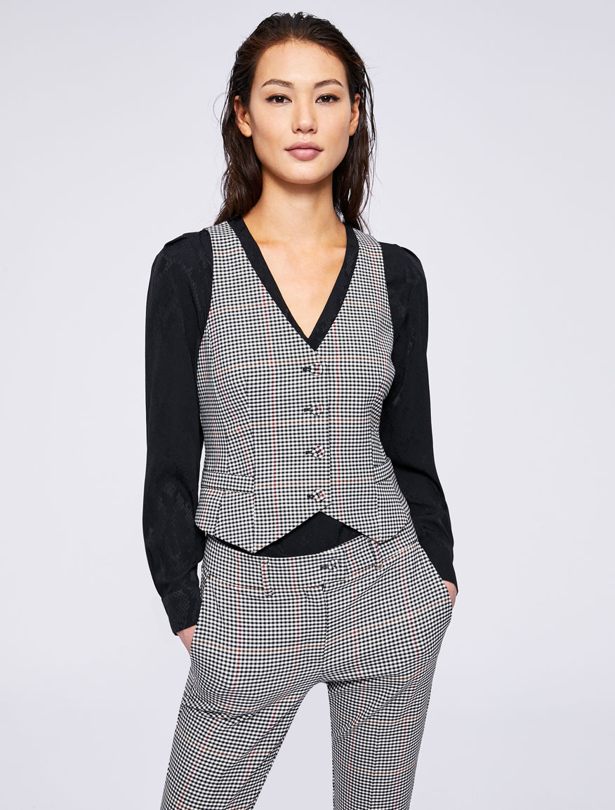 Prince of Wales checked gilet Marella