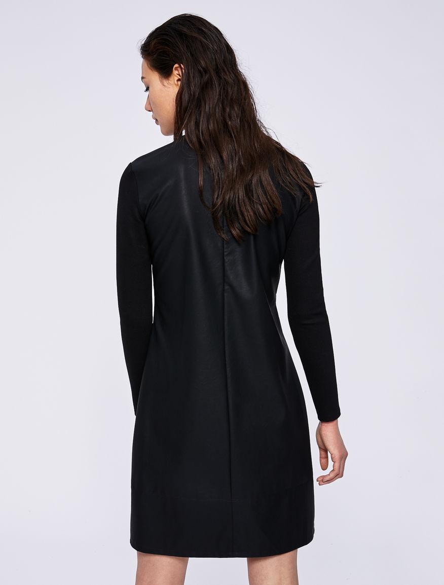 Dual-material dress Marella