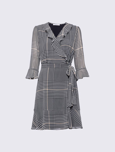 Prince of Wales checked dress Marella