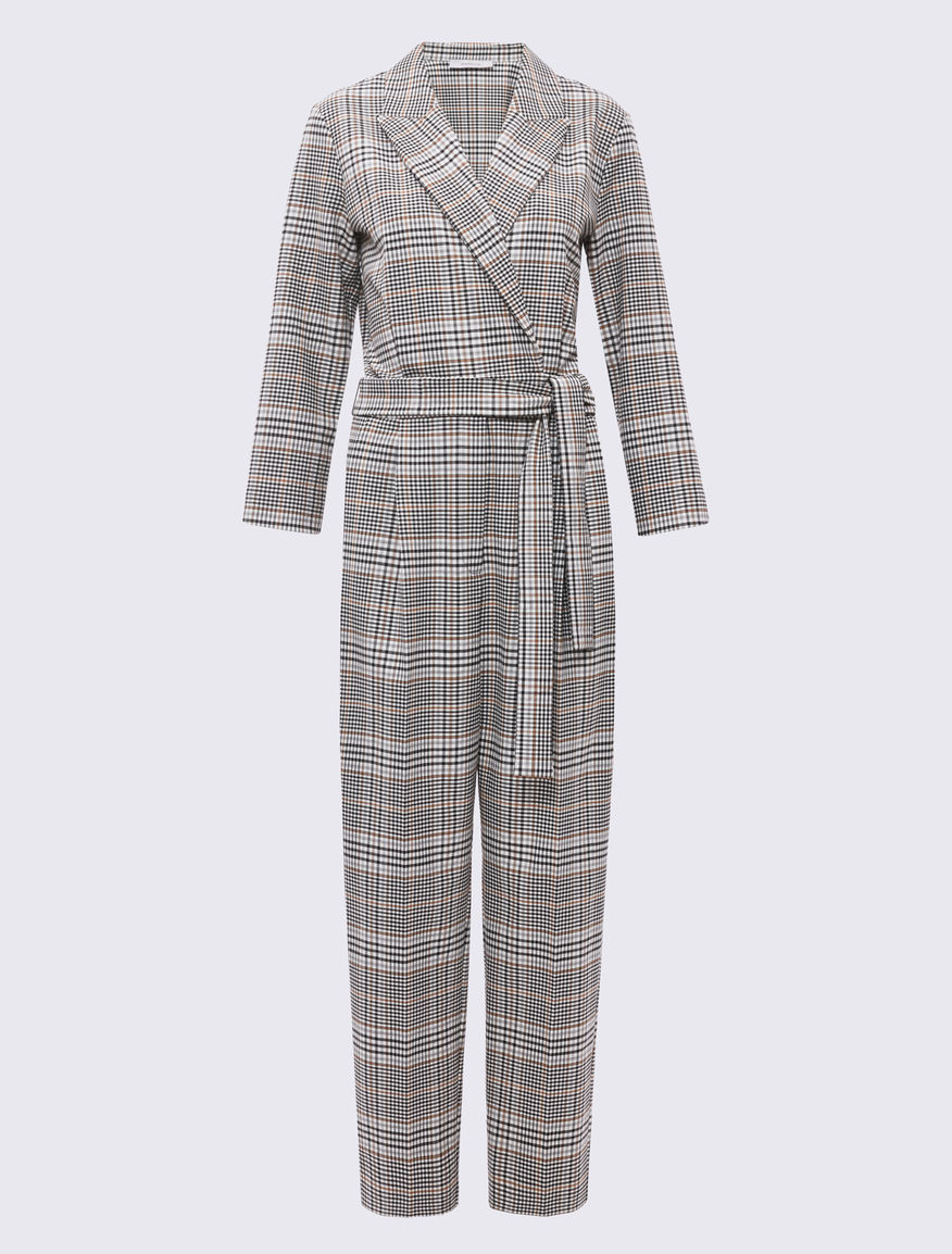 Prince of Wales checked jumpsuit Marella