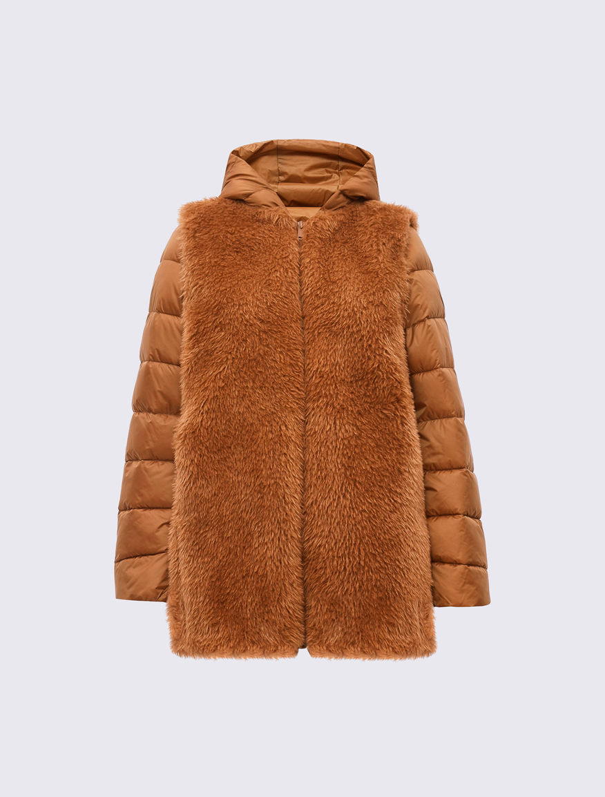 Dual-material puffer jacket Marella
