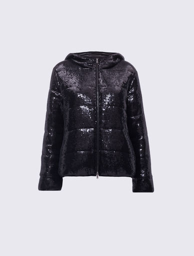 Sequinned puffer jacket Marella