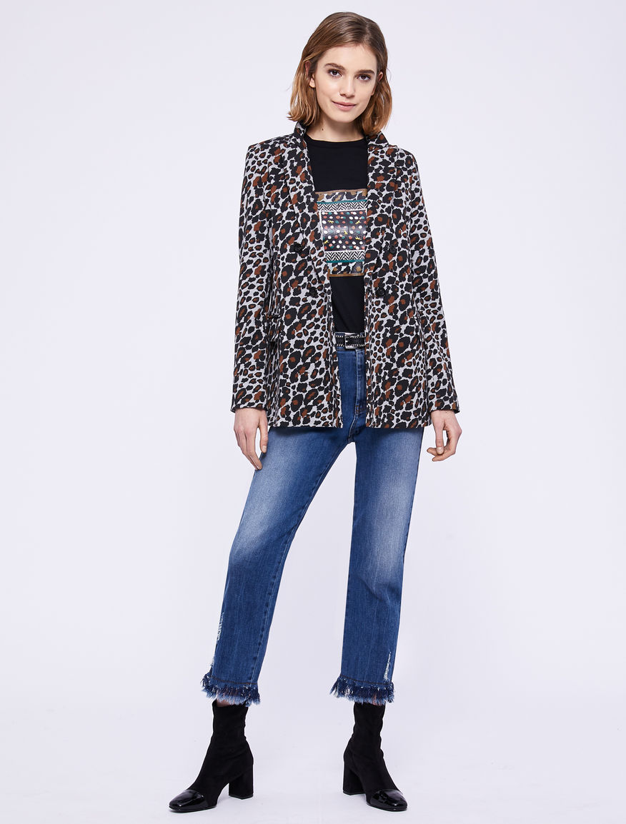 Animal print blazer Marella