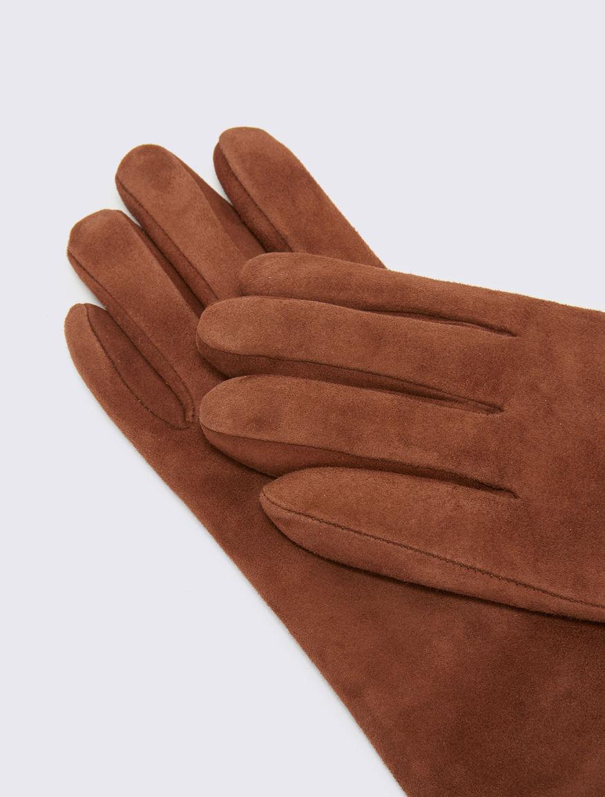 Suede gloves Marella