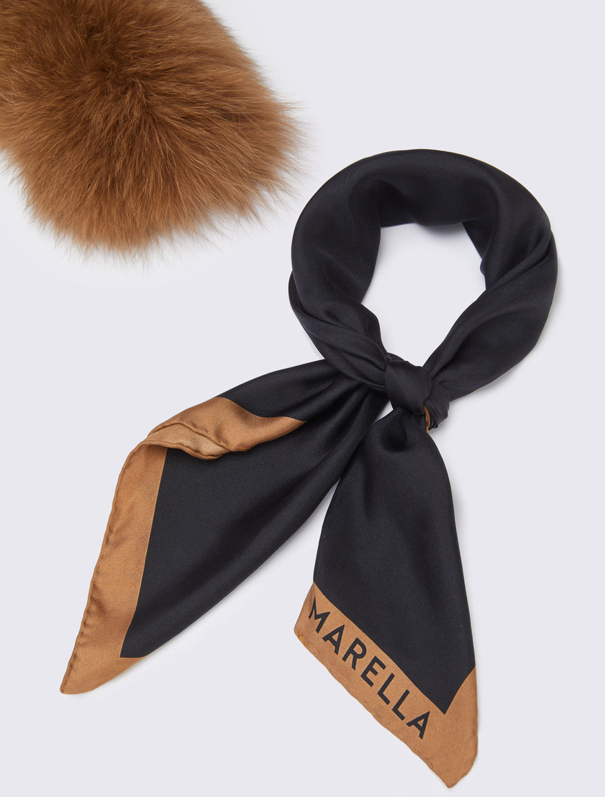 Foulard with fur Marella