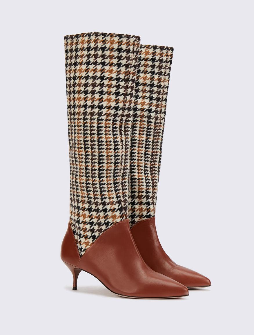 Houndstooth boots Marella