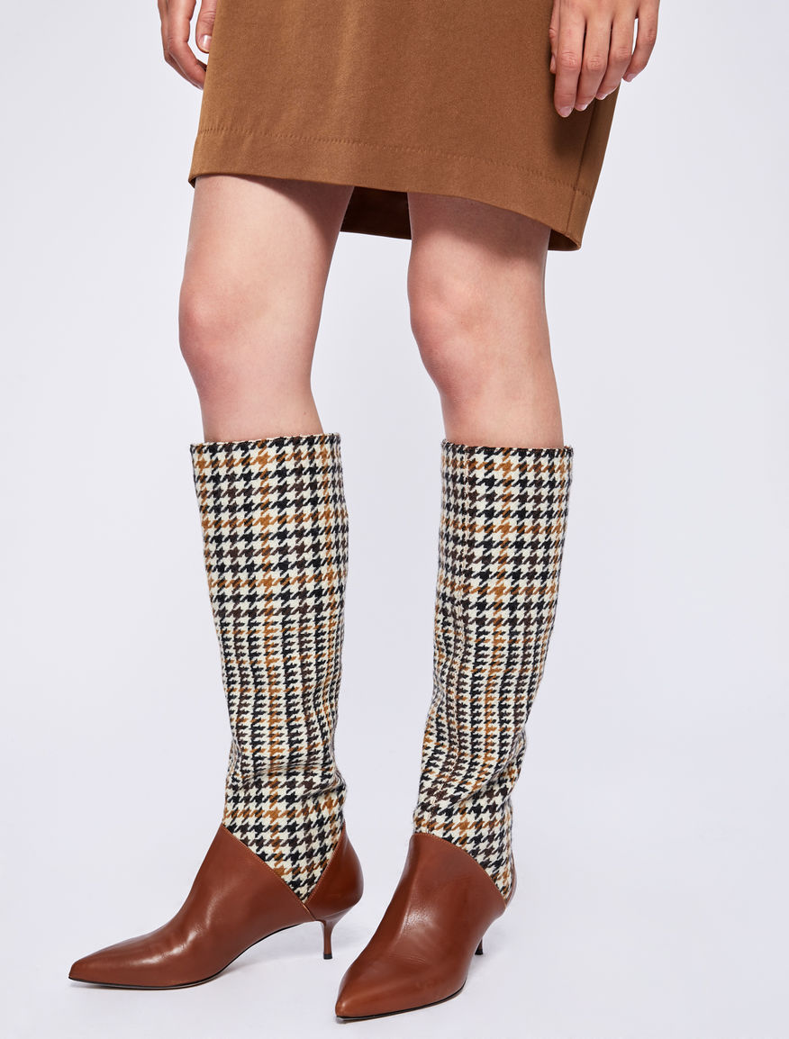 Houndstooth boots Marella