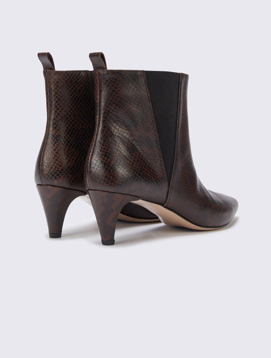 Leather low boots Marella