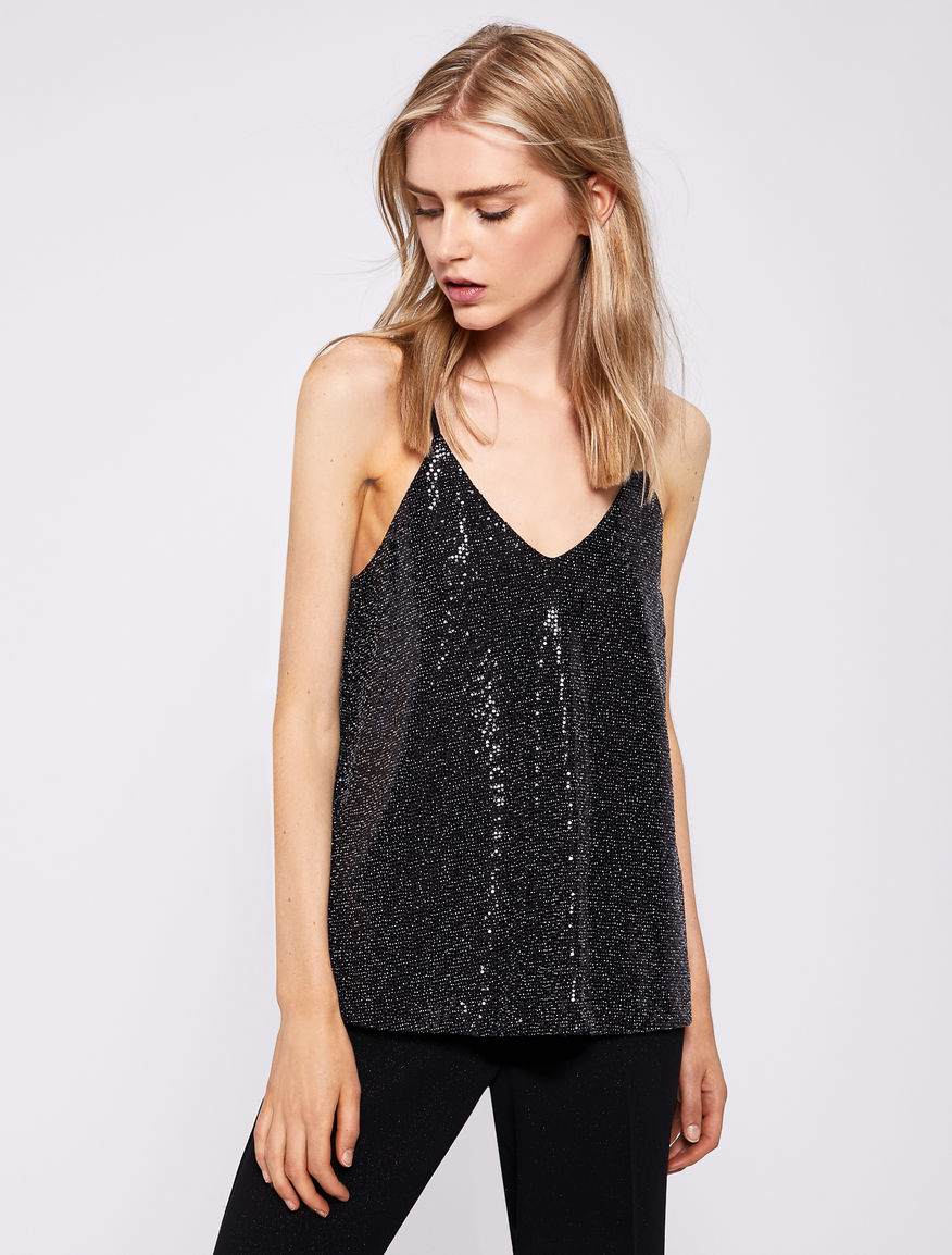Sequin effect top Marella