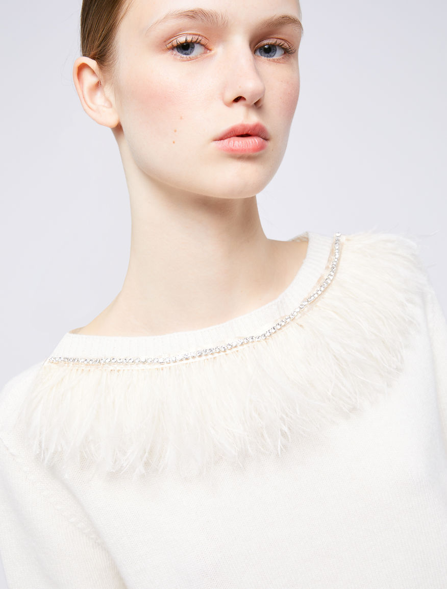 Jumper with feathers Marella