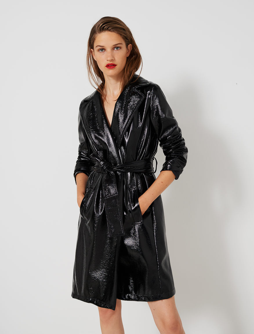 Patent leather trench coat Marella