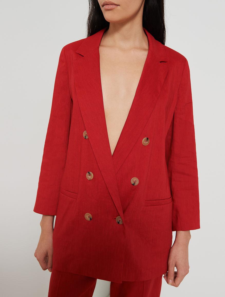 Linen blend blazer Marella