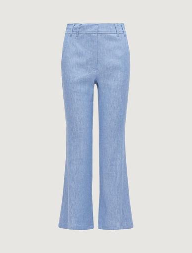 Pantalón de lino mixto Marella