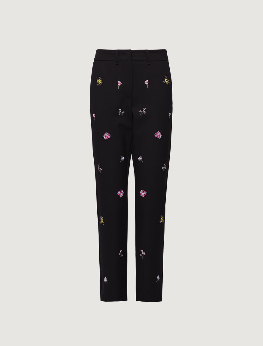 Embroidered trousers Marella