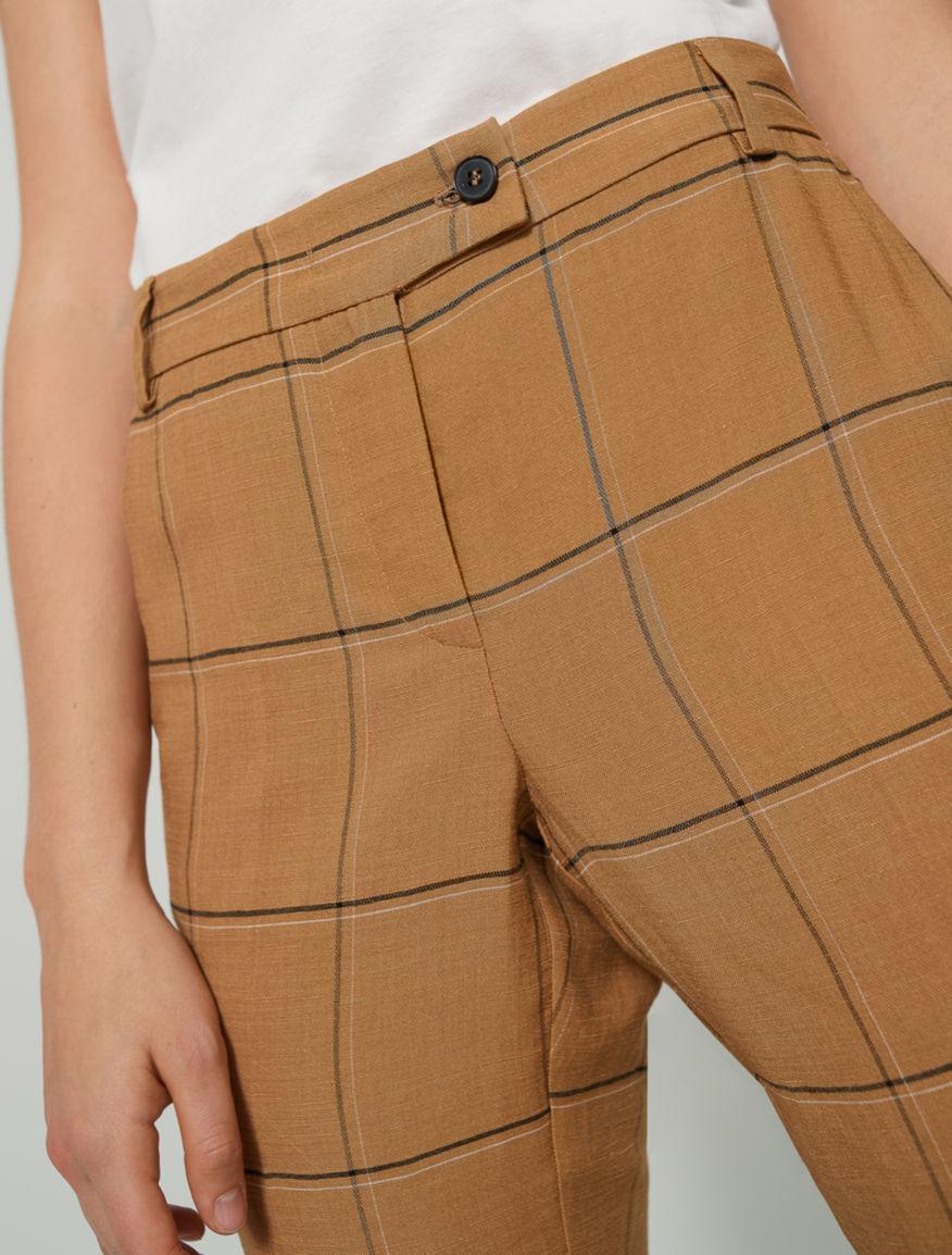 Linen-blend trousers Marella