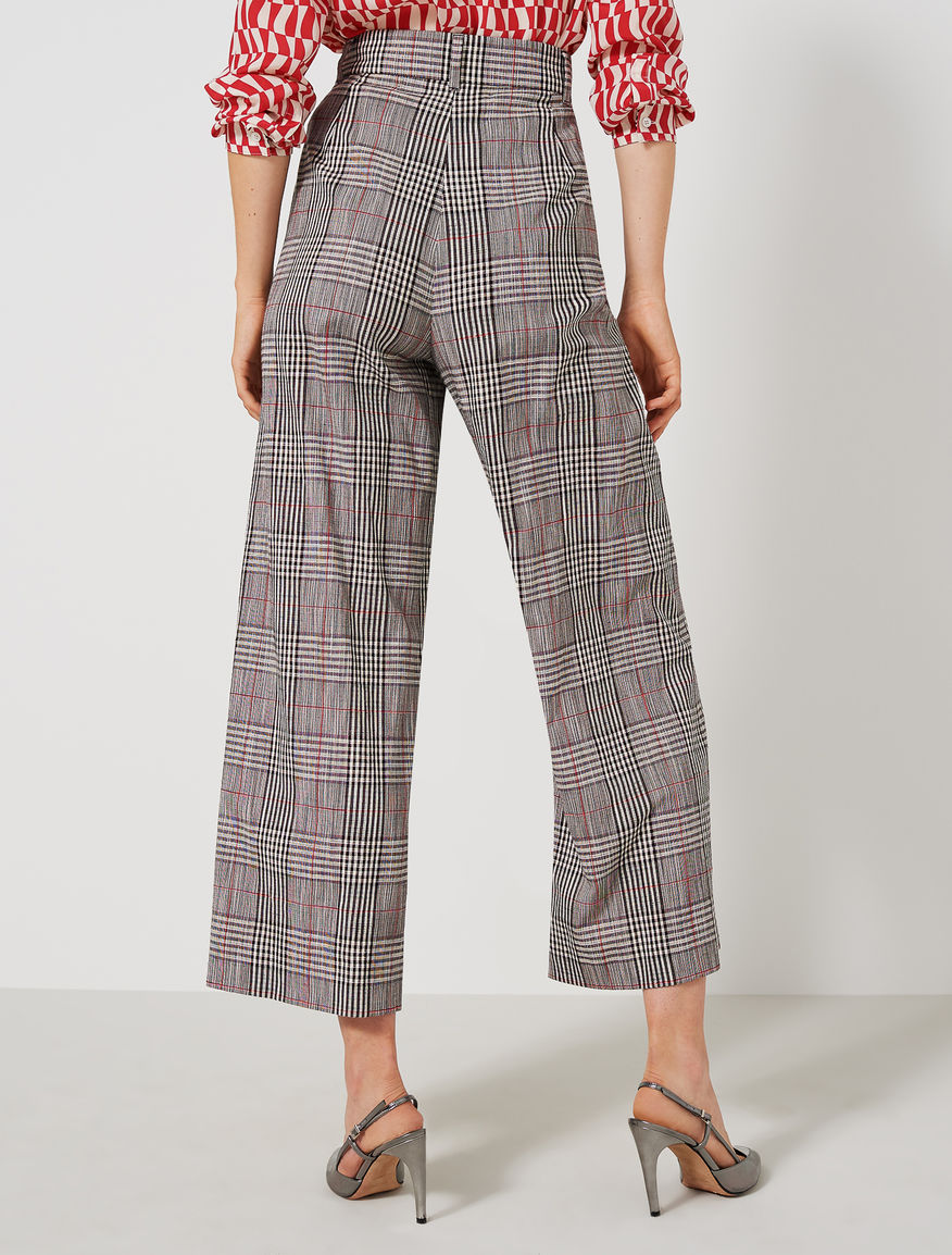 Prince of Wales checked trousers Marella