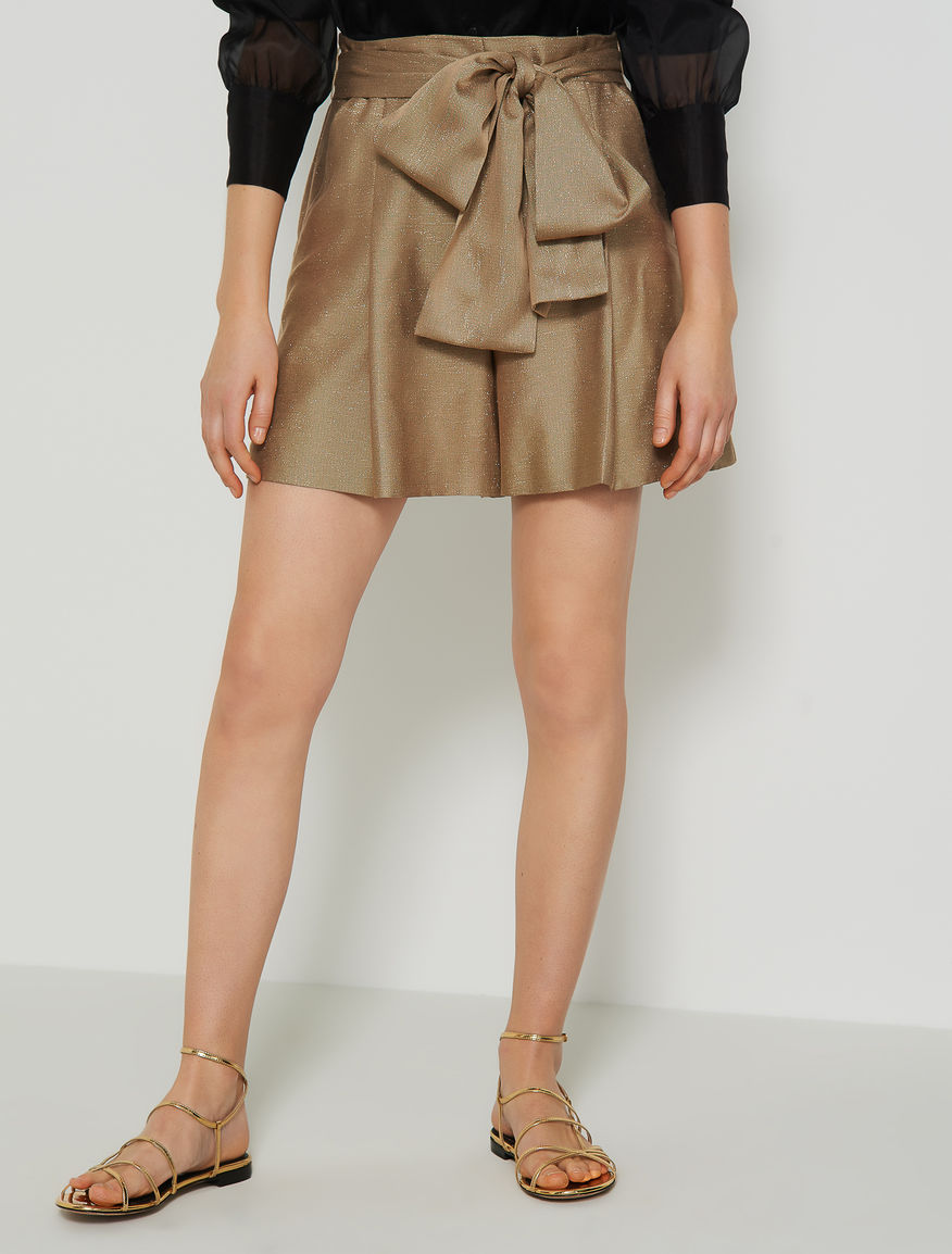 Shorts with tie belt Marella