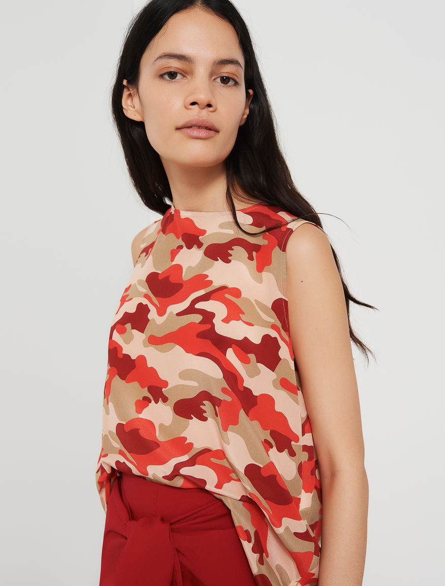 Patterned top Marella