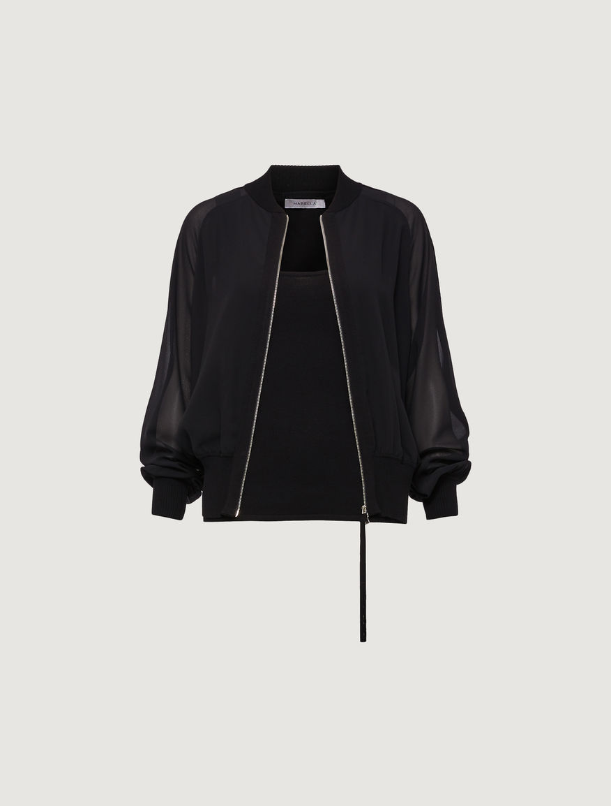 Bomber jacket in two fabrics Marella