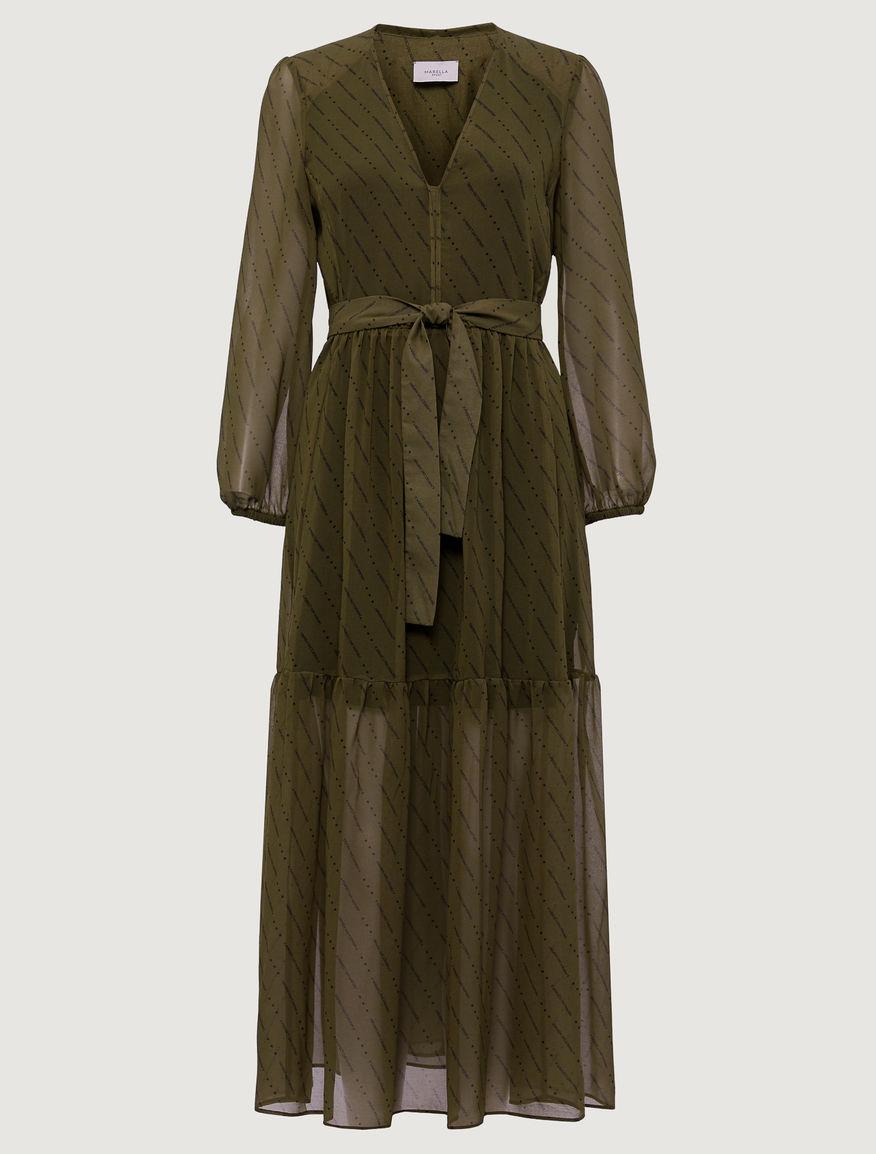 Vestido de georgette Marella