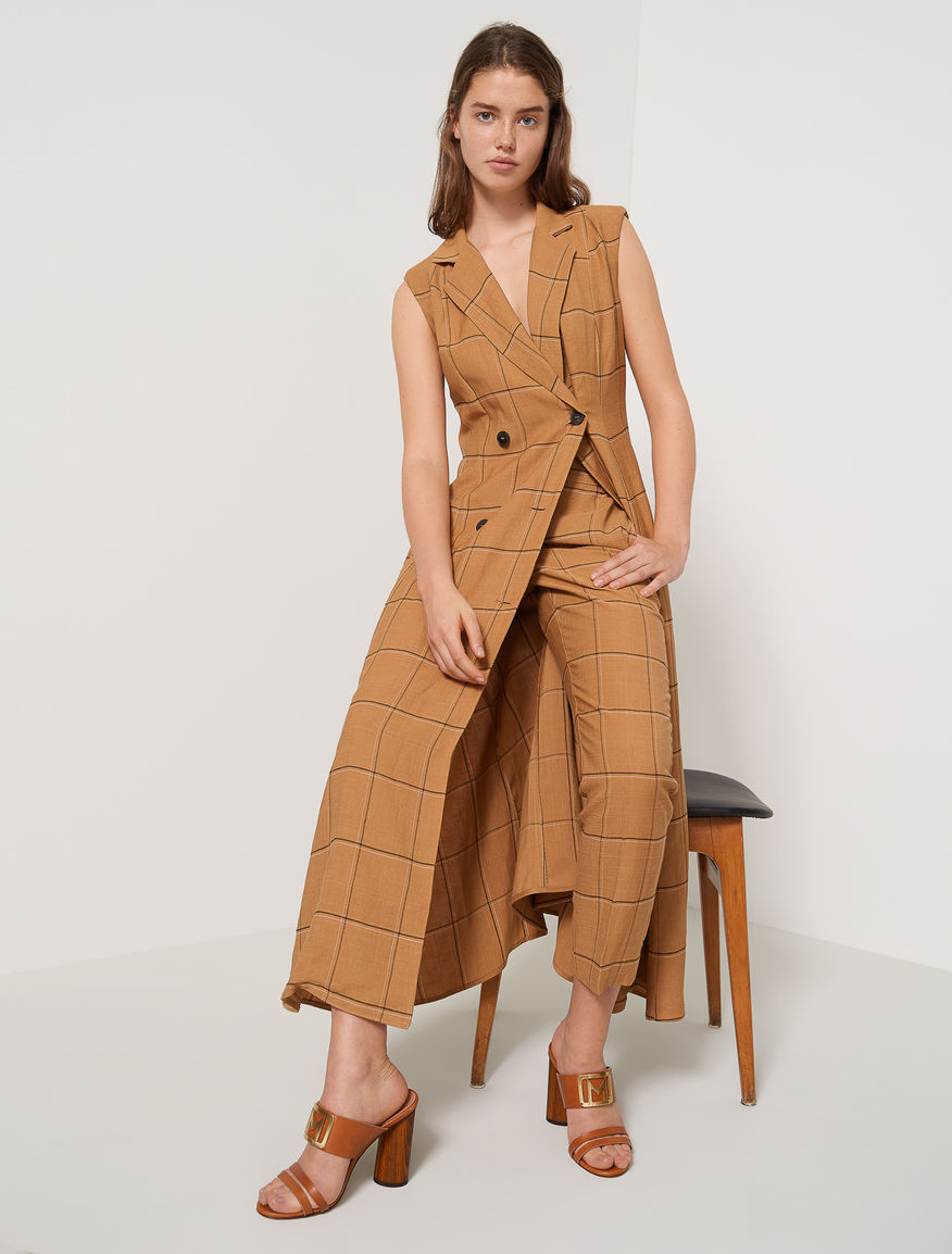 Linen blend blazer dress Marella