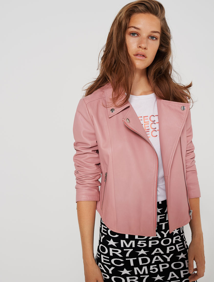 Leather biker jacket Marella