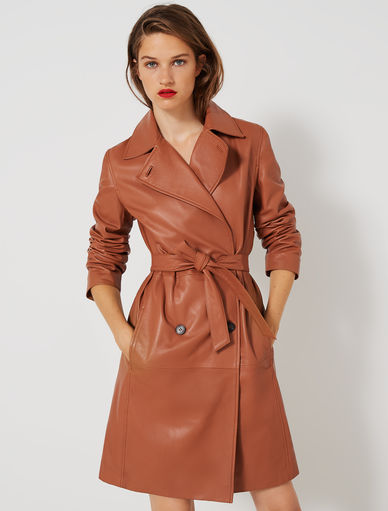 Leather trench coat Marella