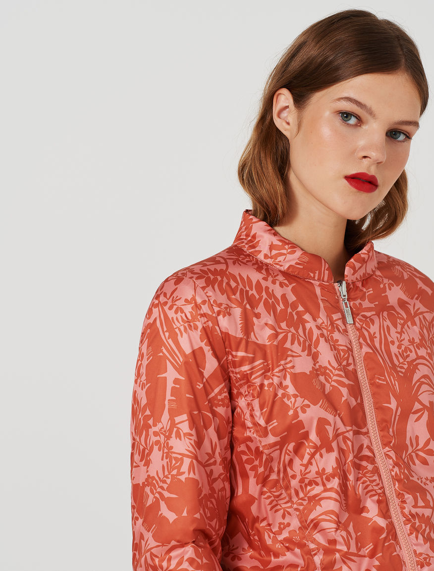 Patterned puffer jacket. Marella