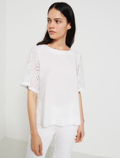 St. Gallen embroidery top Marella