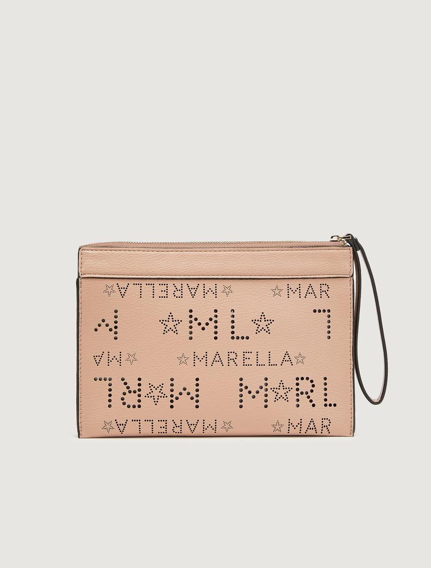Clutch bag with logo Marella