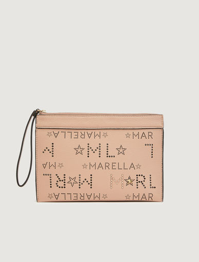Clutch bag with logo Marella