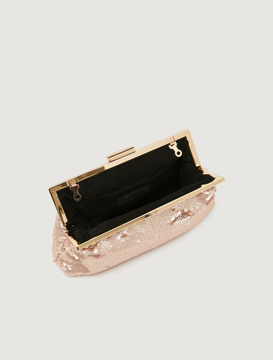 Sequinned clutch bag Marella