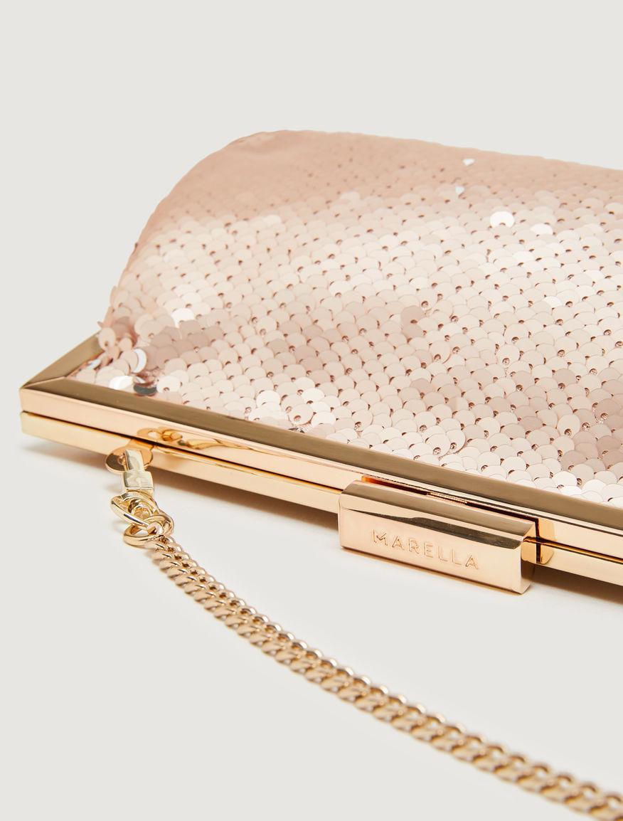 Sequinned clutch bag Marella