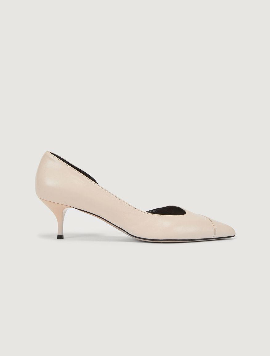 Leather court shoe Marella
