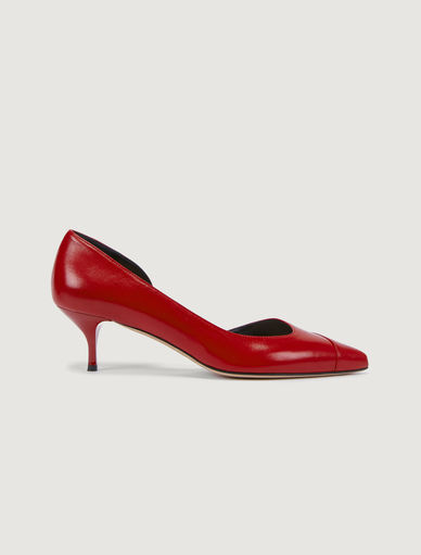 Leather court shoe Marella