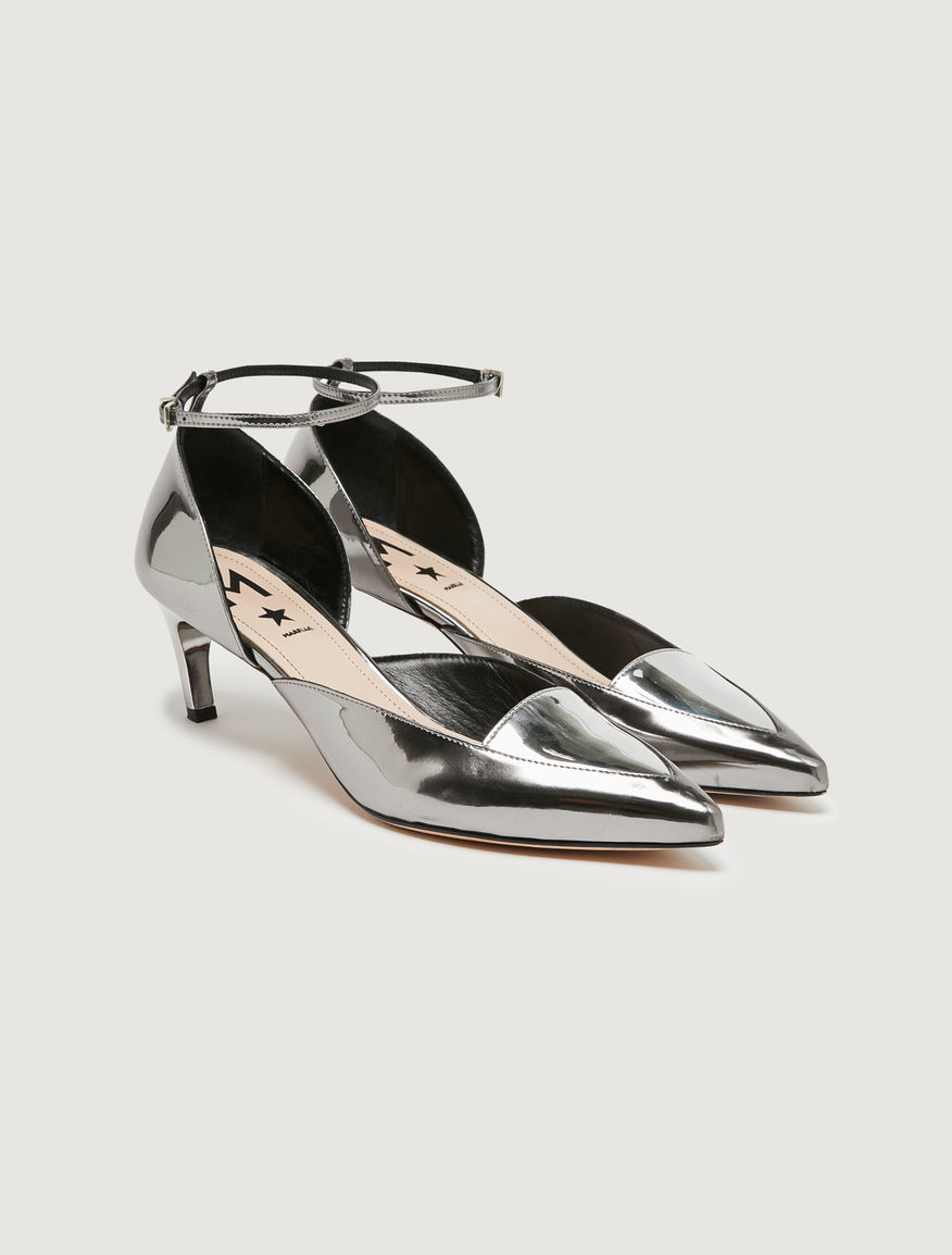 Laminated court shoes Marella