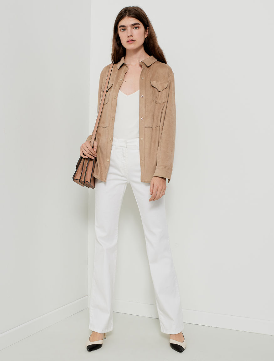 Belted shirt jacket Marella