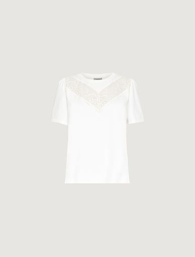 T-shirt with lace Marella