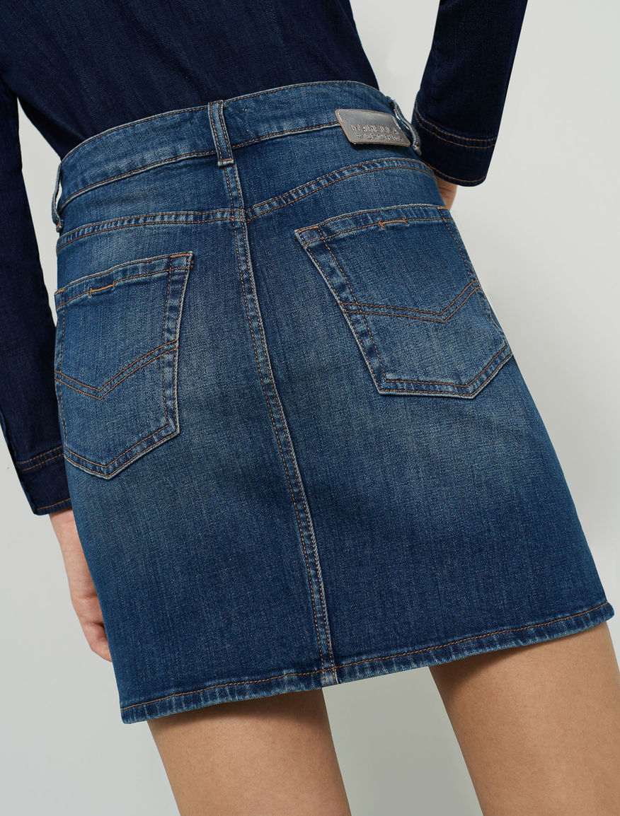 Denim mini skirt Marella