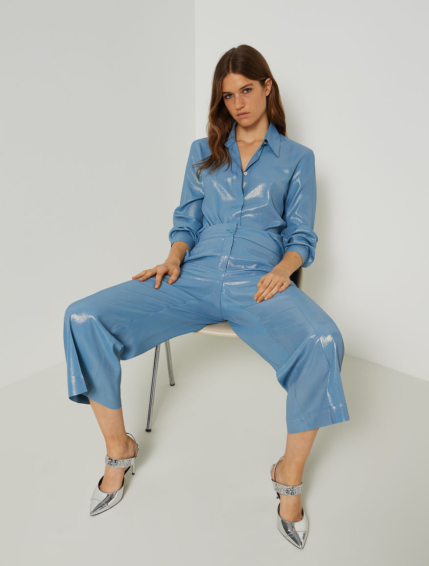 Laminated trousers Marella
