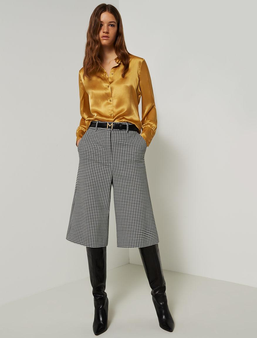 Falda-pantalón de pata de gallo Marella